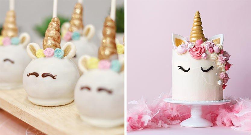 Yksisarviskakku sekä cake pops