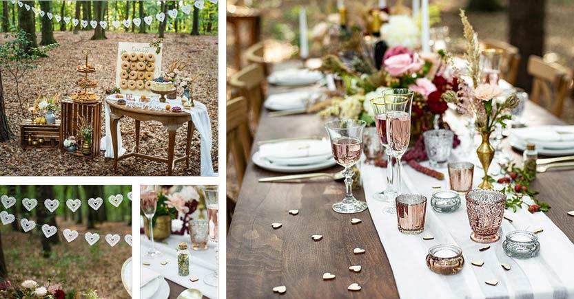 Forest wedding, rustiikkinen ja maanläheinen hääteema