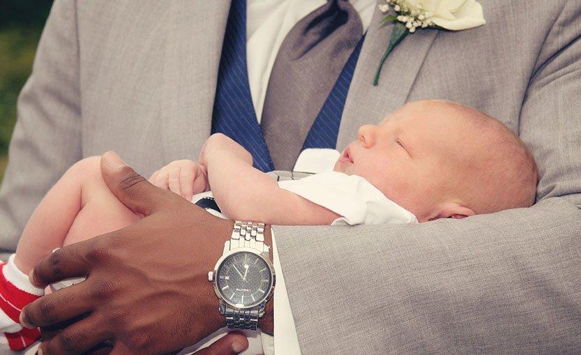 Vauva ristiäisissä