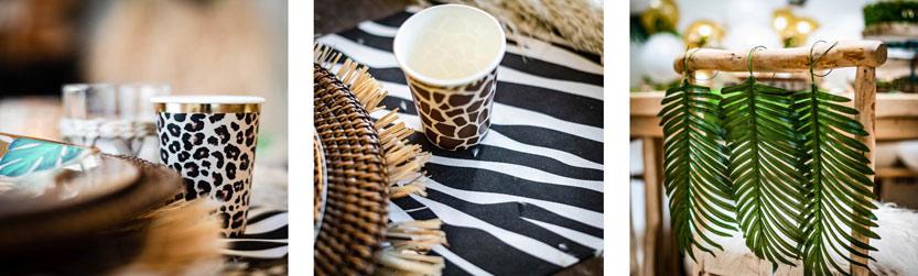 safari viidakko kattaus ja koristeet