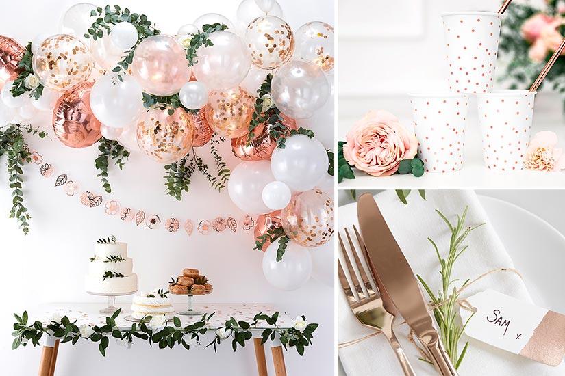 Ruusukultaiset juhlatuotteet