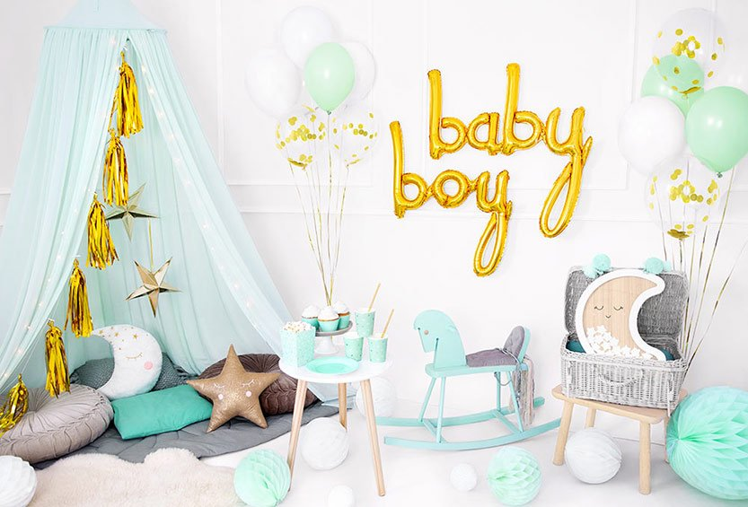 Baby Shower Boy - Mint