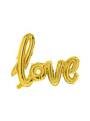 Foliopallo - Love - Kultainen