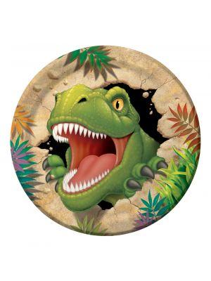 Dinosaurus pahvilautaset, 22cm, 8kpl