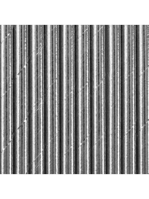Metallinhohtoiset hopeanväriset paperipillit.