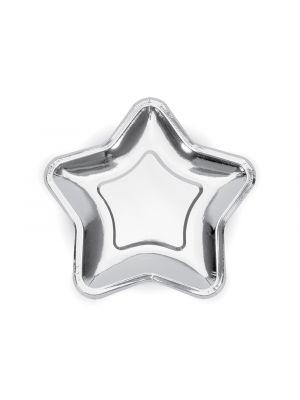 Tähti lautaset Hopea 23 cm