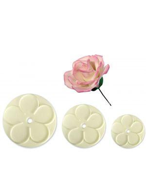 JEM:n painomuoteilla teet kauniit ruusut kakkuihin ja leivonnaisiin.