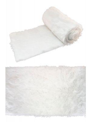 Kaitaliina, Valkoinen tekoturkki, 30 cm x 3 metriä