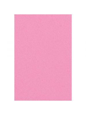 Vaaleanpunainen muovinen kertakäyttöpöytäliina.