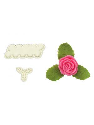 JEM:n tekemät painettavat muotit - Pienet ruusut ja lehdet.