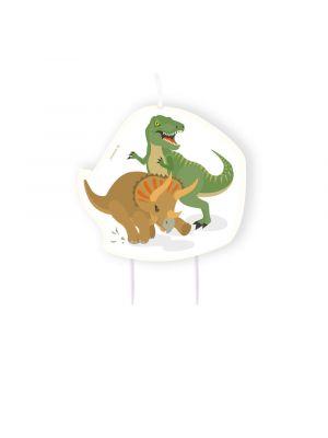 Dinosaurus kakkukynttilä.