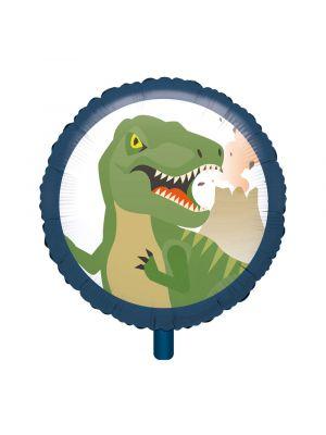 Dinosaurus pyöreä foliopallo t-rex kuvalla.