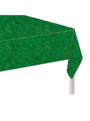 Kertakäyttöpöytäliina ruohonkuviolla, 137 x 259 cm.