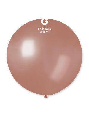 Iso ruusukultainen lateksi-ilmapallo, 80 cm.