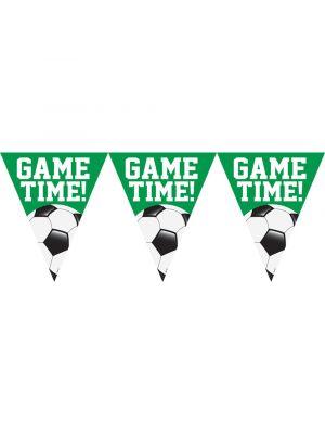 """Jalkapallo lippuviiri tekstillä """"Game Time!"""""""
