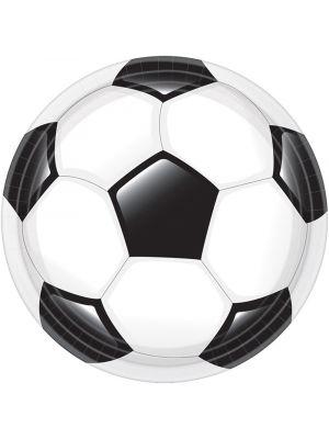 Jalkapallolautaset, 23cm, 8 kpl.
