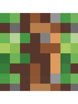 Lautasliinat, Pikseli, 16 kpl. Minecraft-synttärijuhlat.