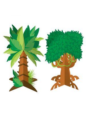 Pöytäkoriste, Viidakon puut, 2kpl