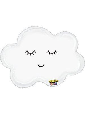 Pilvenmuotoinen foliopallo, 76 cm.