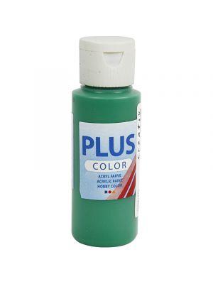 Plus Color Askartelumaali, Akryylimaali, Vihreä. 60ml
