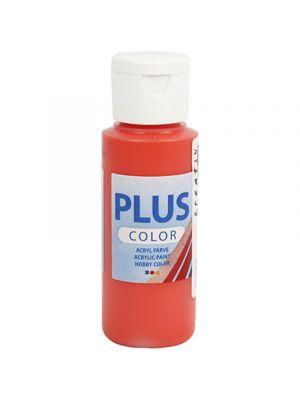 Color Plus Askartelumaali, Akryylimaali, Briljantin Punainen 60 ml