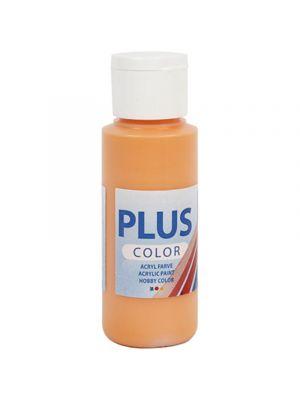 Plus Color Askartelumaali, Akryylimaali, Kurpitsa Oranssi, 60 ml