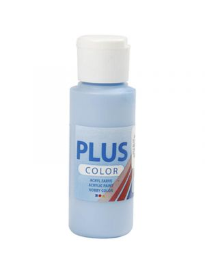 Plus Color Askartelumaali, Akryylimaali, Vaaleansininen, taivaansininen, 60 ml
