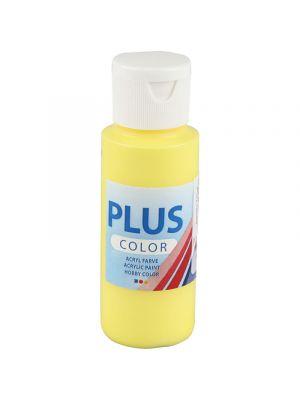 Color Plus Askartelumaali, Akryylimaali, Peruskeltainen 60 ml