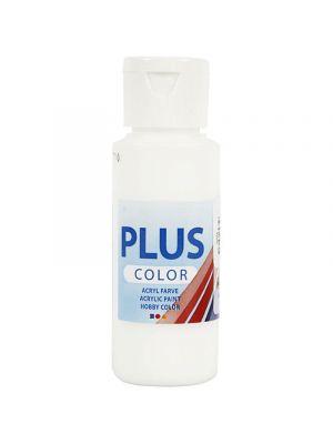 Plus Color Askartelumaali, Akryylimaali, Valkoinen.