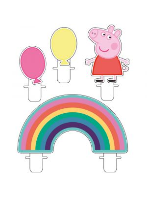 Pipsa Possu kakkukynttilät, 4 kpl. Peppa Pig.
