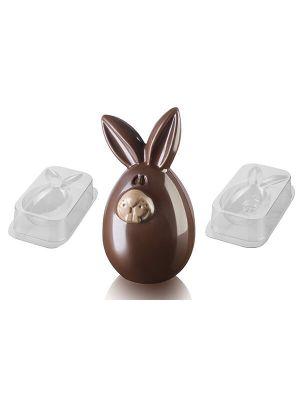 Silikomart Muotti - 3D Pupu - Lucky Bunny suklaamuotti.