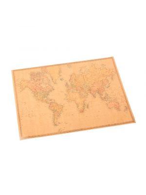 Pöytätabletit maailmankartalla, 10 kpl, 30x40 cm.