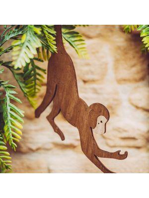 Puinen apina koriste