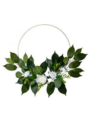 Kukkakranssi, Valkoiset Pionit, 30cm