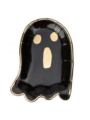 Mustat kummitus pahvilautaset, Black Ghost, 8 kpl.
