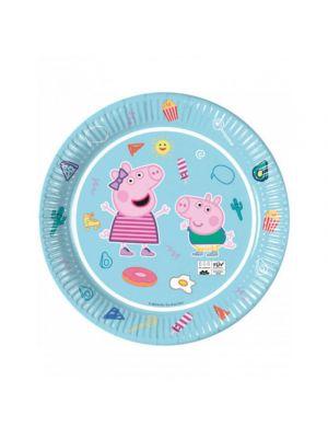 Pipsa Possu - Peppa Pig kertakäyttölautaset, 8 kpl.