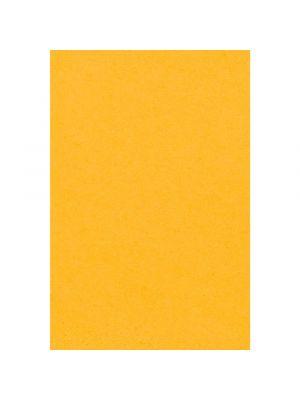 Keltainen muovinen pöytäliina, 137 x 274 cm.