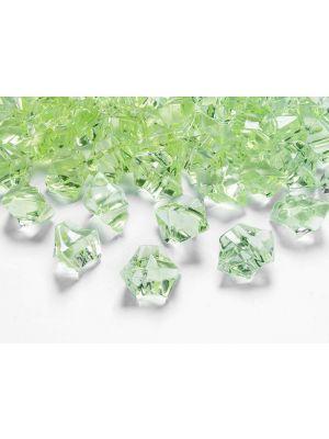 Vaaleanvihreät jääkristallit, 50 kpl.