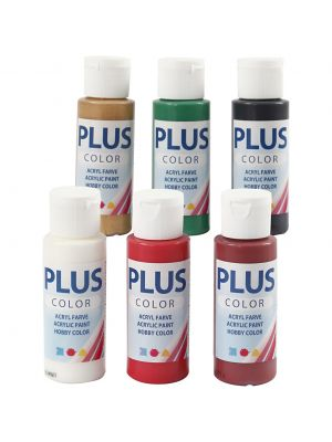 Plus Color Askartelumaali, Joulu Telma, 60 ml, 6 Pll