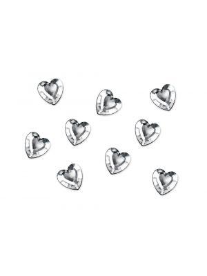 Sydämenmuotoiset timanttikonfetit, 50 kpl.
