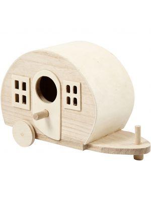 Pieni mini asuntovaunu miniatyyriaailmaan tai tonttumaailmaan.