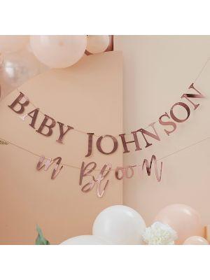 Baby Shower Banneri Baby in Bloom, Nimellä