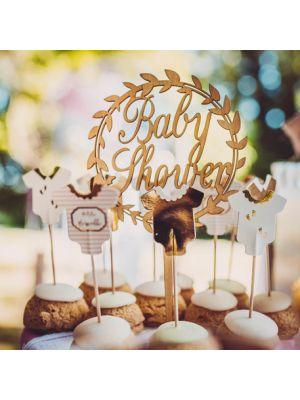 Puinen Kakkukoriste - Baby Shower