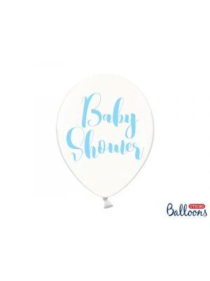 Baby Shower ilmapallot vaaleansininen teksti