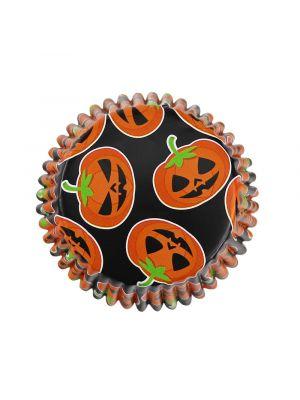 Folioidut PME:n muffinssivuoat kurpitsan kuvioilla, 30 kpl. Halloween.