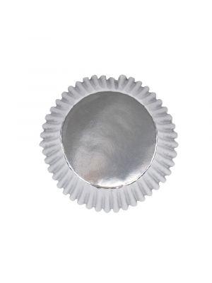 Hopeiset folioidut PME:n muffinssivuoat, 30 kpl.