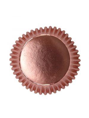 Ruusukultaiset folioidut PME:n muffinssivuoat, 30 kpl.