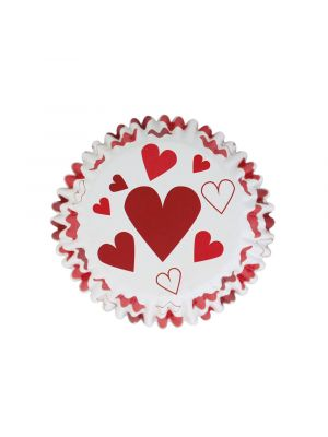 Folioidut PME:n muffinssivuoat sydän-kuvioilla, 30 kpl.