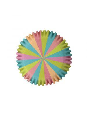 Pastellinväriset folioidut PME:n muffinssivuoat, unicorn-yksisarvinen, 30 kpl.