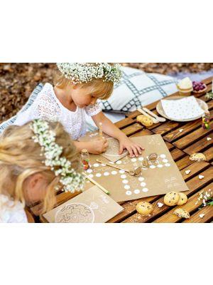 Lasten puuhasetti hääjuhliin (tehtäviä ja pelejä)